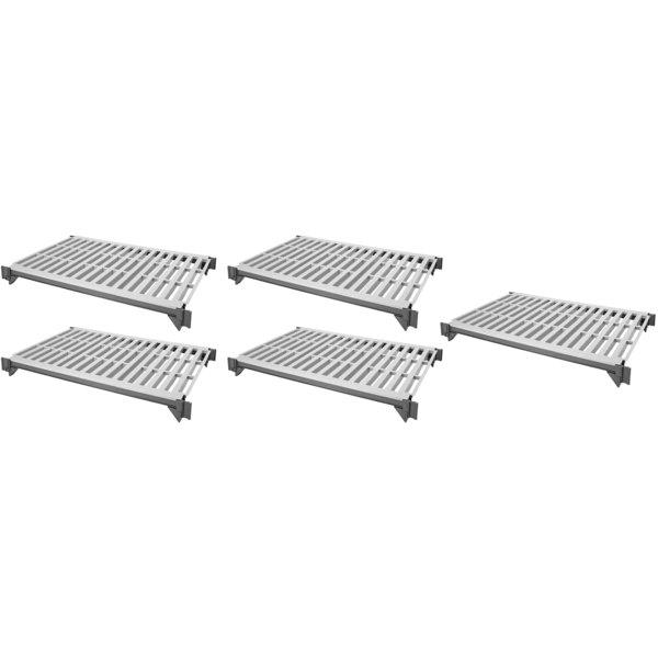 "Cambro ESK2448V5580 Camshelving® Elements 24"" x 48"" Shelf Kit with 5 Vented Shelves for Stationary Units"