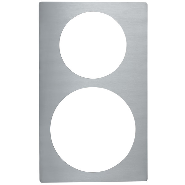 Vollrath 8243314 Miramar Stainless Steel Adapter Plate for One Large French Omelet Pan and One Small French Omelet Pan