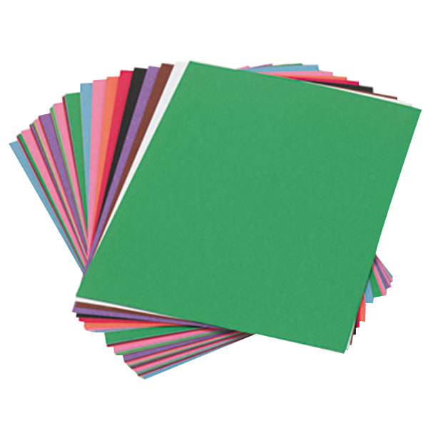 "SunWorks 6503 9"" x 12"" Assorted Color Pack of 58# Construction Paper - 50/Sheets"