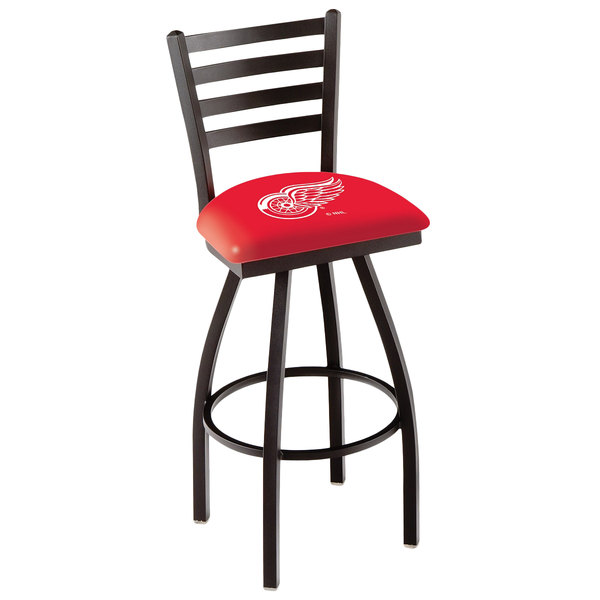 Holland Bar Stool L01430DetRed Detroit Red Wings Swivel Stool with Ladder Back and Padded Seat