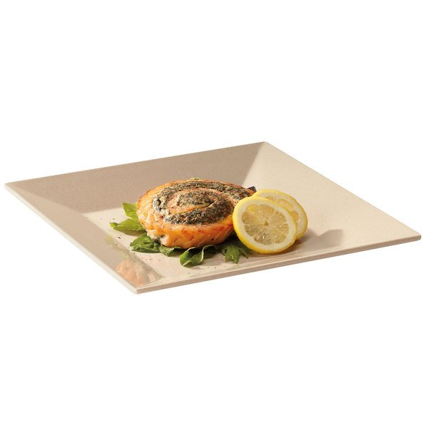 "GET BAM-1103 BambooMel 8"" Square Plate - 12/Case"