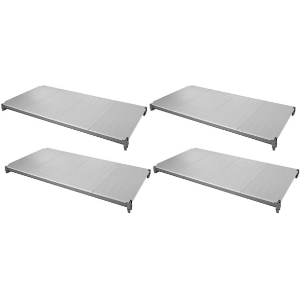 """Cambro ESK2142S4580 Camshelving® Elements 21"""" x 42"""" Shelf Kit with 4 Solid Shelves for Stationary Units"""