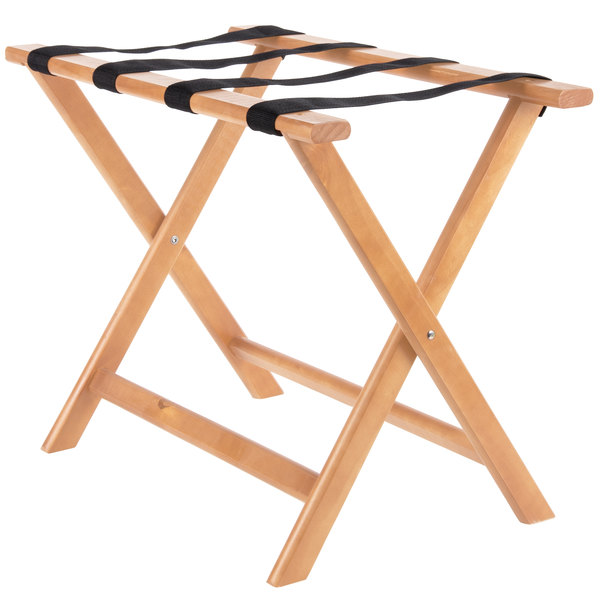 Lancaster Table & Seating Wood Folding Luggage Rack