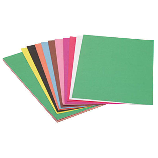 "SunWorks 6507 12"" x 18"" Assorted Color Pack of 58# Construction Paper - 50/Sheets"