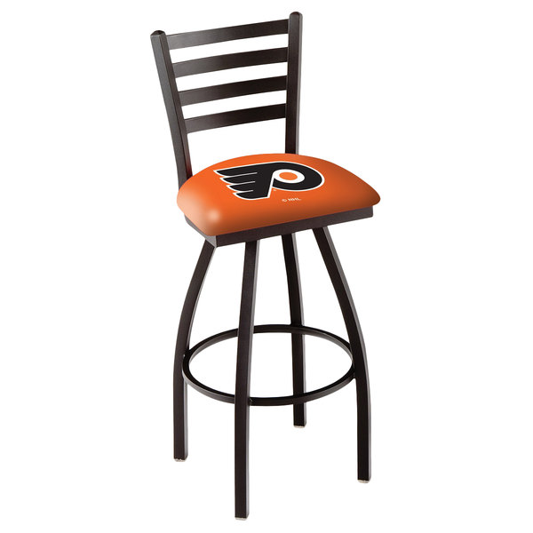 Holland Bar Stool L01430PhiFly-O Philadelphia Flyers Swivel Stool with Ladder Back and Padded Seat