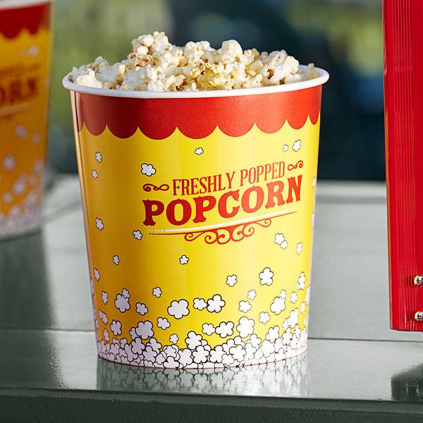 Carnival King 130 oz. Popcorn Bucket - 150/Case Main Image 2