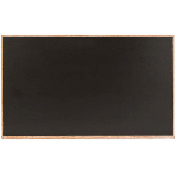 Aarco Oc4872b 48 X 72 Black Solid Oak Wood Frame Slate Composition Chalkboard