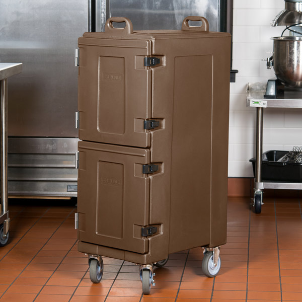 "Carlisle PC600N01 Cateraide™ Brown Insulated Food Pan Carrier, 25"" x 17"" x 50"" - Holds 10 Pans Main Image 4"