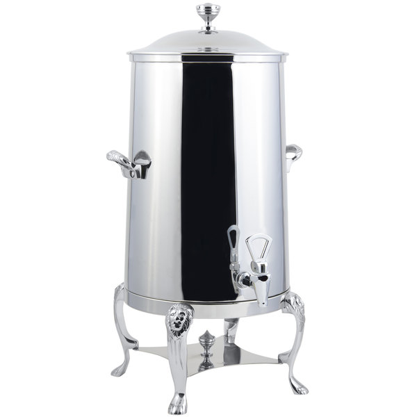 Bon Chef 48005-1C Lion 5 Gallon Insulated Stainless Steel Coffee Chafer Urn with Chrome Trim