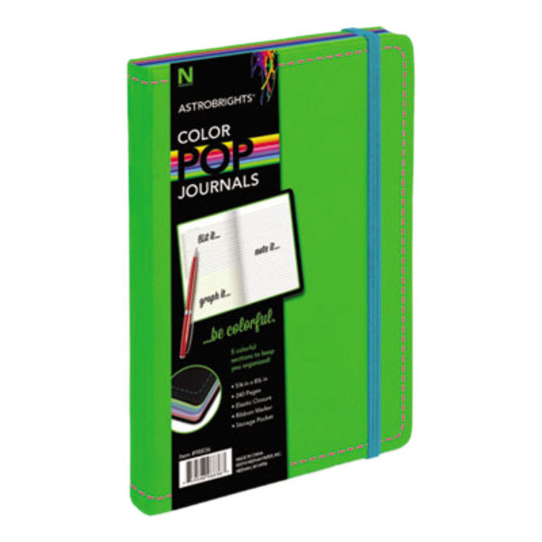 "Astrobrights 98836 ColorPop 8 1/2"" x 5 1/2"" Green College Ruled Journal"
