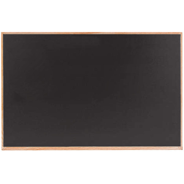 Aarco Oc3648b 36 X 48 Black Solid Oak Wood Frame Slate