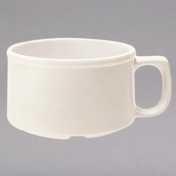 GET BF-080-IV 11 oz. Diamond Ivory Melamine Mug - 24/Case