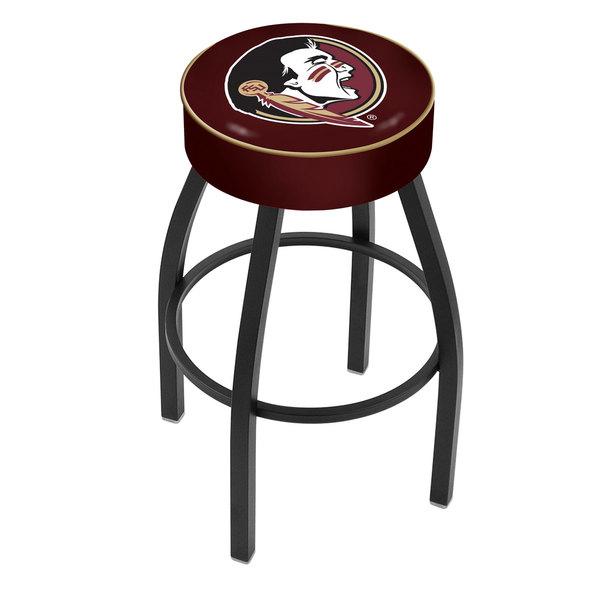 "Holland Bar Stool L8B130FSU-HD Florida State Single Ring Swivel Bar Stool with 4"" Padded Seat Main Image 1"