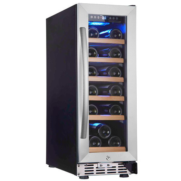 Eurodib USF18S Single Section 18-Bottle Single Temperature Full Glass Door Wine Refrigerator Main Image 1