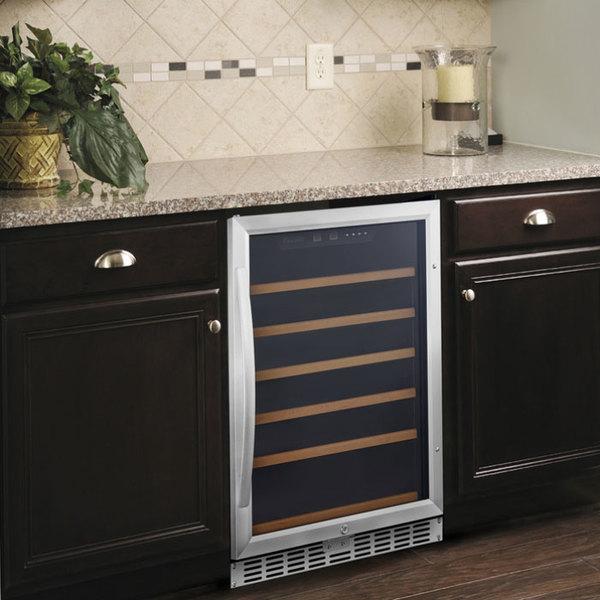 Eurodib USF54S Single Section Single Temperature Full Glass Door  Undercounter Wine Refrigerator