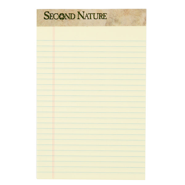TOPS 74840 Second Nature 5 inch x 8 inch Narrow Ruled Canary Legal Pad - 12/Pack