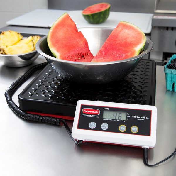 Rubbermaid FG401088 Pelouze 150 lb. Digital Receiving Scale with Remote Display