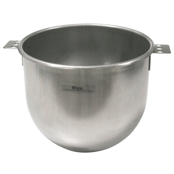 Sammic 2509494 10 Qt. Stainless Steel Planetary Mixer Bowl Main Image 1