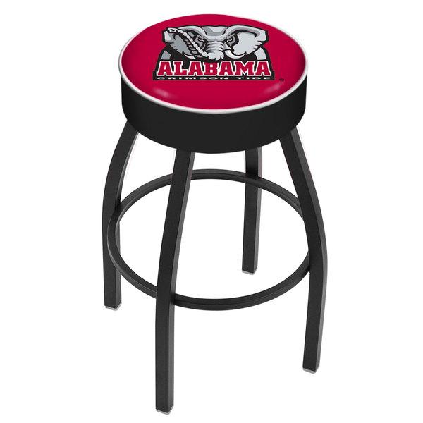 "Holland Bar Stool L8B130AL-Ele University of Alabama Logo Single Ring Swivel Bar Stool with 4"" Padded Seat Main Image 1"
