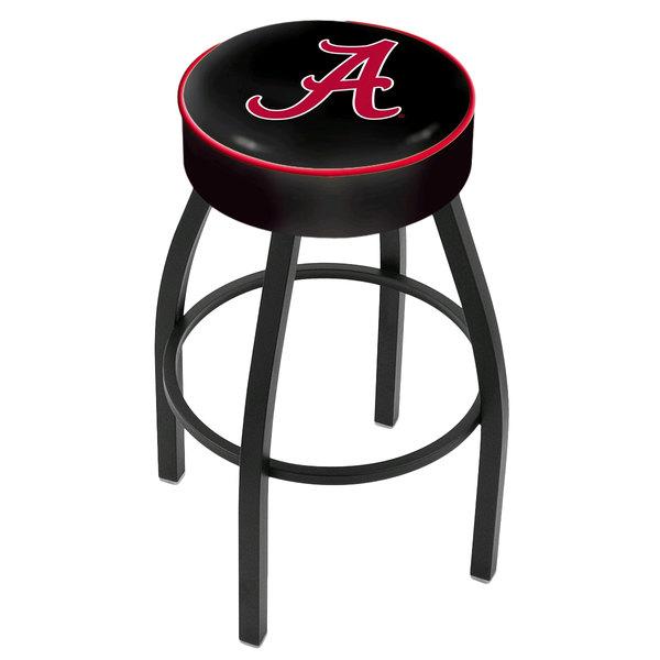 "Holland Bar Stool L8B130AL-A University of Alabama Logo Single Ring Swivel Bar Stool with 4"" Padded Seat"