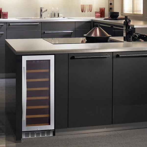 Eurodib USF33S Single Section Single Temperature Full Glass Door  Undercounter Wine Refrigerator