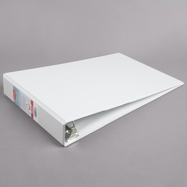 Cardinal CRD 22132 ClearVue 11 inch x 17 inch White Tabloid Size Binder with 2 inch Slant D Rings