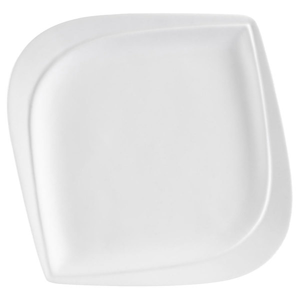 "CAC ASP-6 Aspen Tree Bone White Porcelain 6"" Plate - 36/Case"
