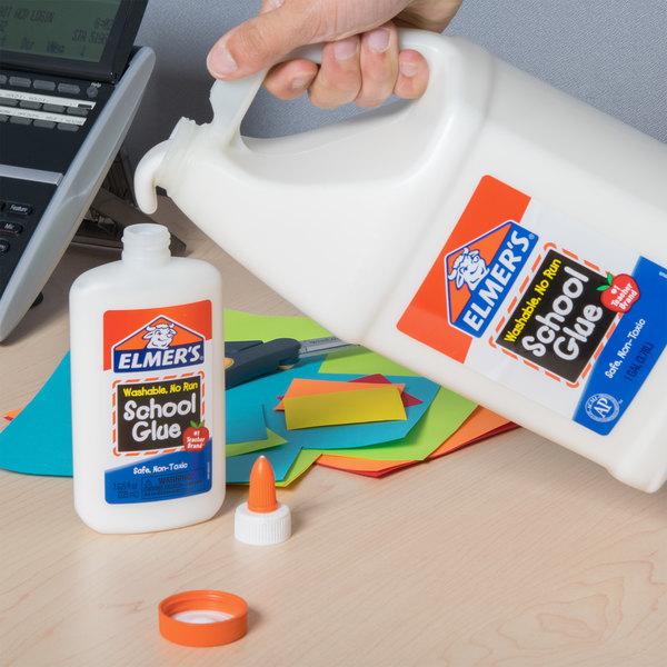 elmer s e340 1 gallon white liquid school glue