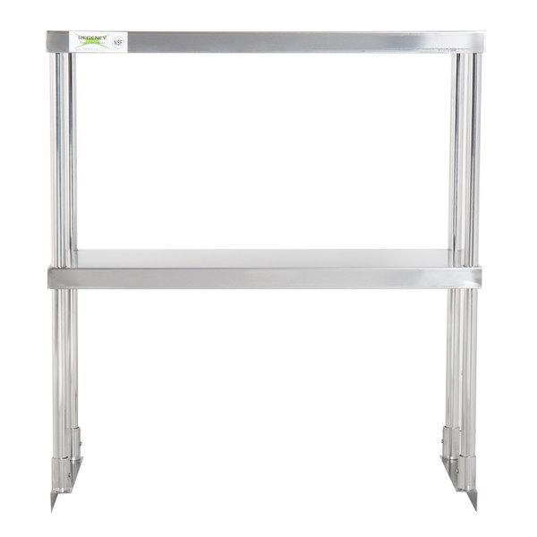 "Regency Stainless Steel Double Deck Overshelf - 12"" x 30"" x 32"" Main Image 1"