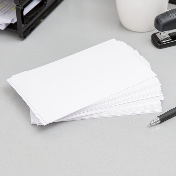 """Oxford OXF 50 5"""" x 8"""" White Unruled Index Card - 100/Pack"""