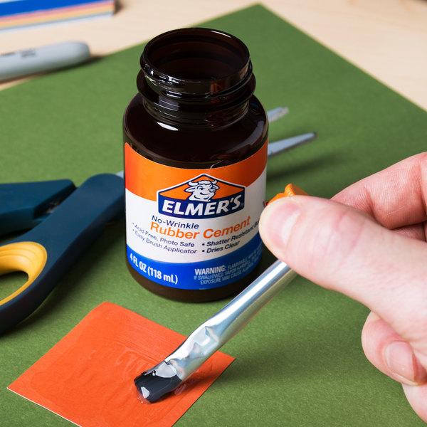 Elmer's E904 4 oz  No-Wrinkle Rubber Cement
