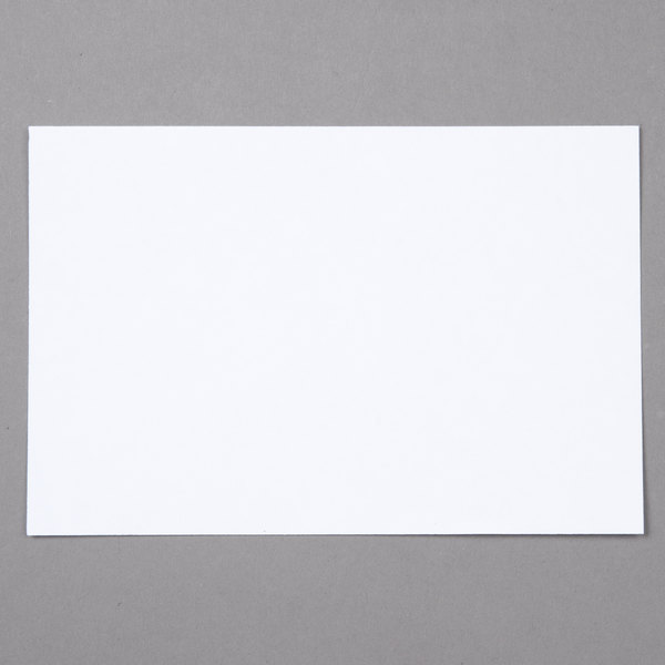 Oxford OXF 40EE 4 inch x 6 inch White Unruled Index Card - 100/Pack