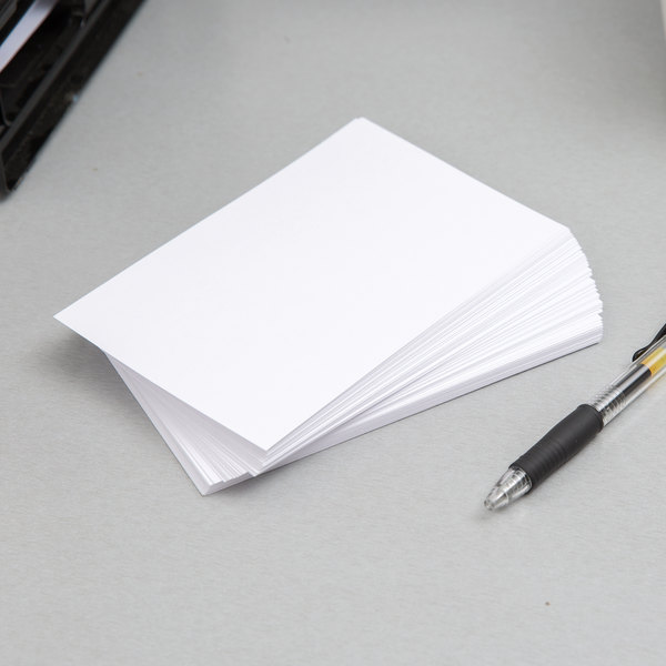 """Oxford OXF 40 4"""" x 6"""" White Unruled Index Card - 100/Pack"""