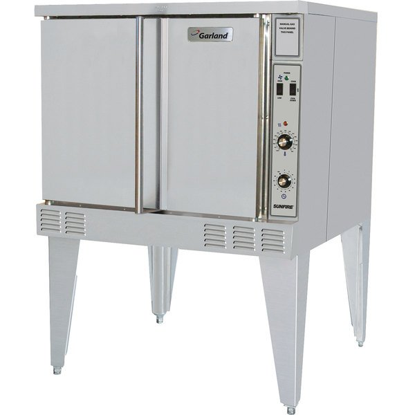 Garland SunFire Series SCO-ES-10S Single Deck Full Size Electric Convection Oven with Single Speed Fan - 208V, 1 Phase, 10.4 kW Main Image 1