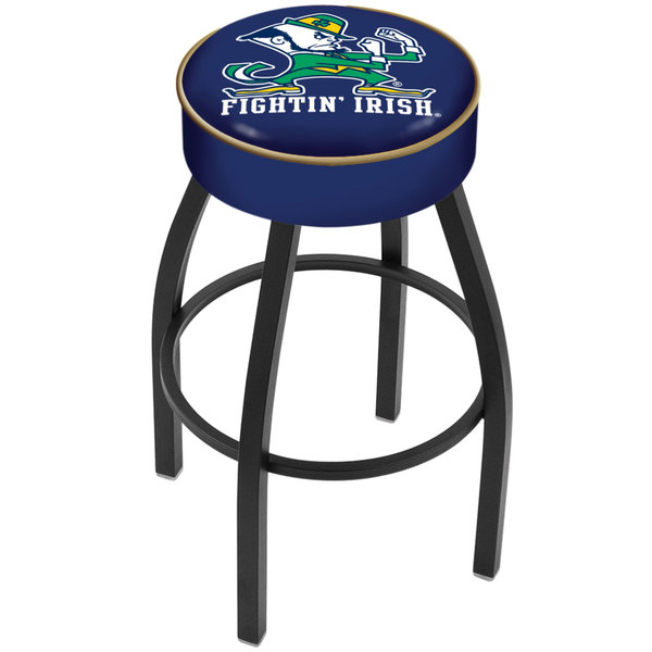 """Holland Bar Stool L8B130ND-Lep Notre Dame Single Ring Swivel Bar Stool with 4"""" Padded Seat Main Image 1"""