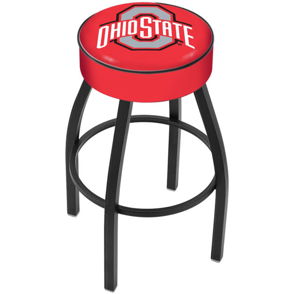 "Holland Bar Stool L8B130OhioSt Ohio State University Single Ring Swivel Bar Stool with 4"" Padded Seat"