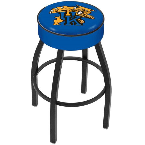 "Holland Bar Stool L8B130UKYCat University of Kentucky Logo Single Ring Swivel Bar Stool with 4"" Padded Seat Main Image 1"