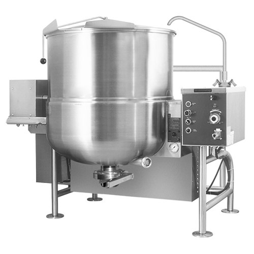 Cleveland HA-MKGL-80-T Liquid Propane 80 Gallon Tilting 2/3 Steam Jacketed Horizontal Mixer Kettle - 190,000 BTU