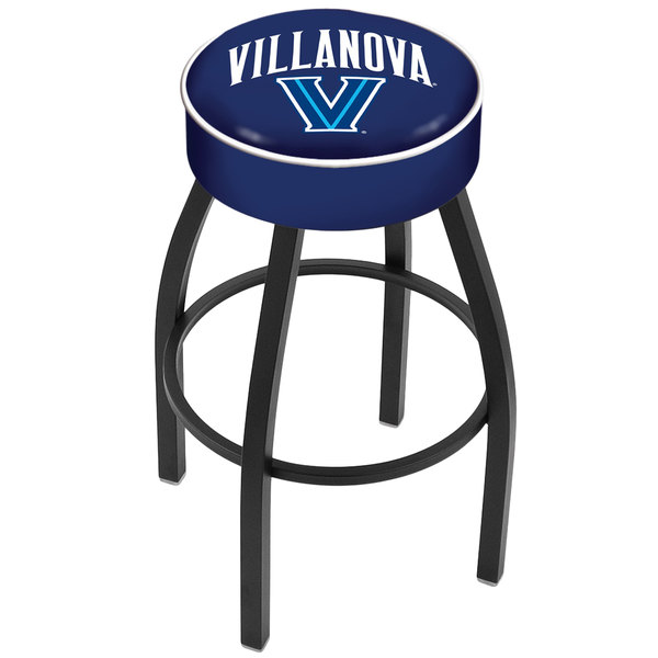 "Holland Bar Stool L8B130Vilnva Villanova University Single Ring Swivel Bar Stool with 4"" Padded Seat"
