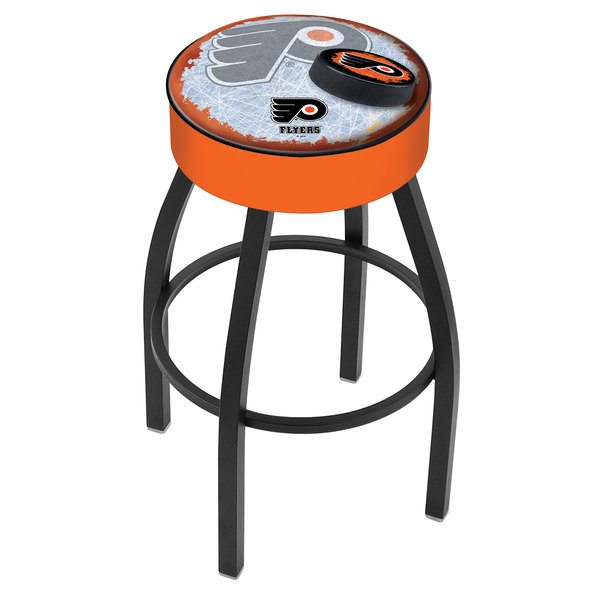 "Holland Bar Stool L8B130PhiFly-O-D2 Philadelphia Flyers Single Ring Swivel Bar Stool with 4"" Padded Seat"