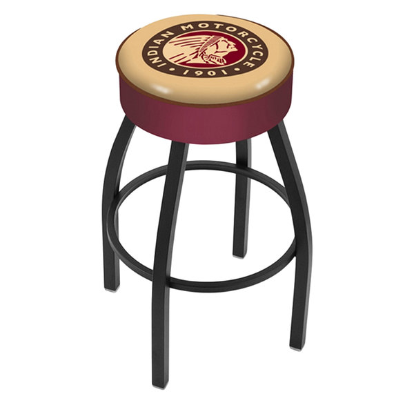"""Holland Bar Stool L8B130Indn-HD Indian Motorcycle Single Ring Swivel Bar Stool with 4"""" Padded Seat Main Image 1"""