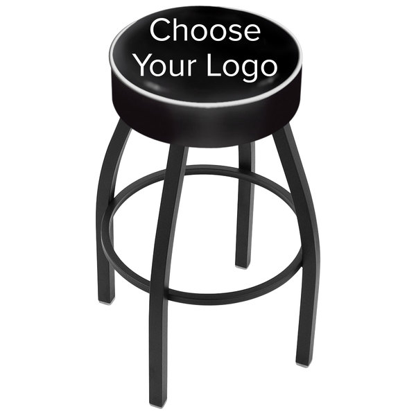 "Holland Bar Stool NHL Logo Single Ring Swivel Bar Stool with 4"" Padded Seat"