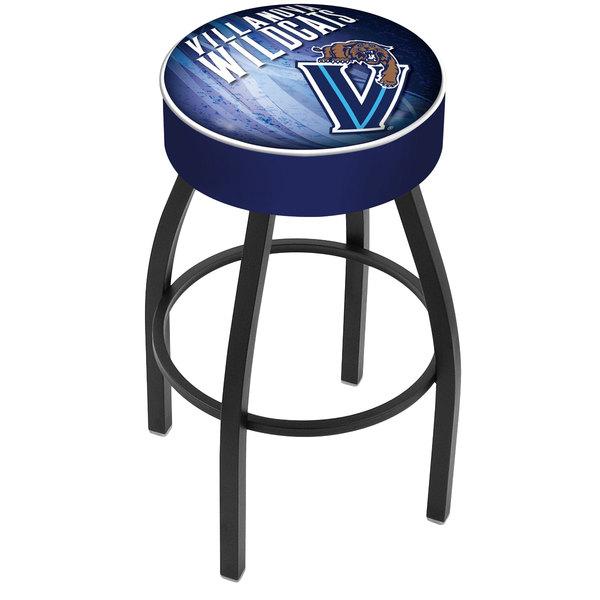 "Holland Bar Stool L8B130Vilnva-D2 Villanova University Single Ring Swivel Bar Stool with 4"" Padded Seat"