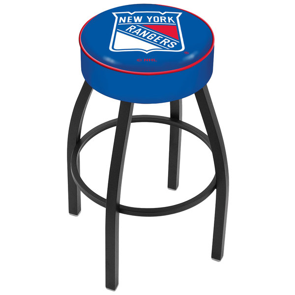 "Holland Bar Stool L8B130NYRang New York Rangers Single Ring Swivel Bar Stool with 4"" Padded Seat"
