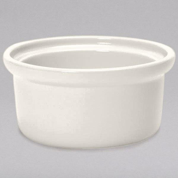 Tuxton BEB-1006 DuraTux 7.5 oz. Ivory (American White) China Casserole Dish / Bowl - 12/Case