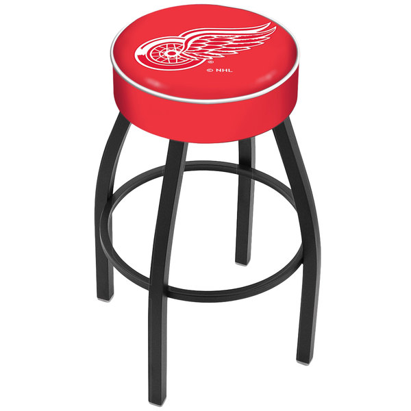 "Holland Bar Stool L8B130DetRed Detroit Red Wings Single Ring Swivel Bar Stool with 4"" Padded Seat"