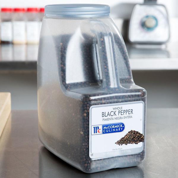 McCormick 932339 Whole Black Pepper - 5.75 lb.
