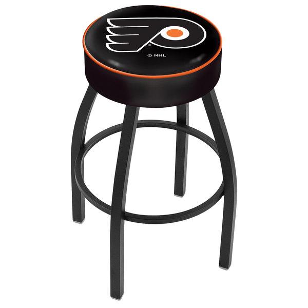 "Holland Bar Stool L8B130PhiFly-B Philadelphia Flyers Single Ring Swivel Bar Stool with 4"" Padded Seat"