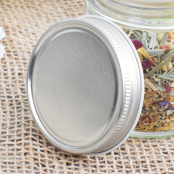 Libbey 92157 Silver Metal 4 Oz Culinary Jar Lid 36 Case