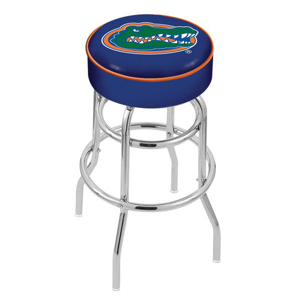 "Holland Bar Stool L7C130FlorUn University of Florida Double Ring Swivel Bar Stool with 4"" Padded Seat Main Image 1"